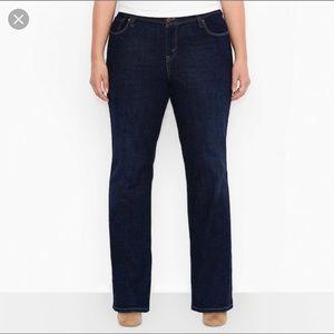 Levi's 580 Dark Wash Bootcut Denim Jeans Size 24W